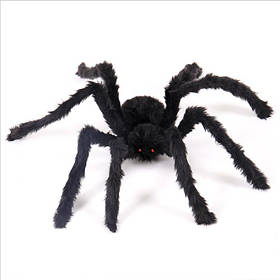 Павук волохатий на Хелловін, 60 см, Паук декоративный на Хэллоуин