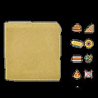 Бумажный пакет Уголок Крафт 140х140мм (ВхШ) 40г/м² 500шт (42) , фото 1