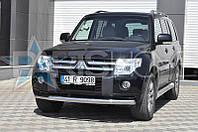 Защита на передний бампер Ус одинарный Mitsubishi Pajero Wagon IV 2007-