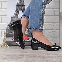 Туфли женские на широком каблуке Vices кожаная стелька черные, Черный, 39