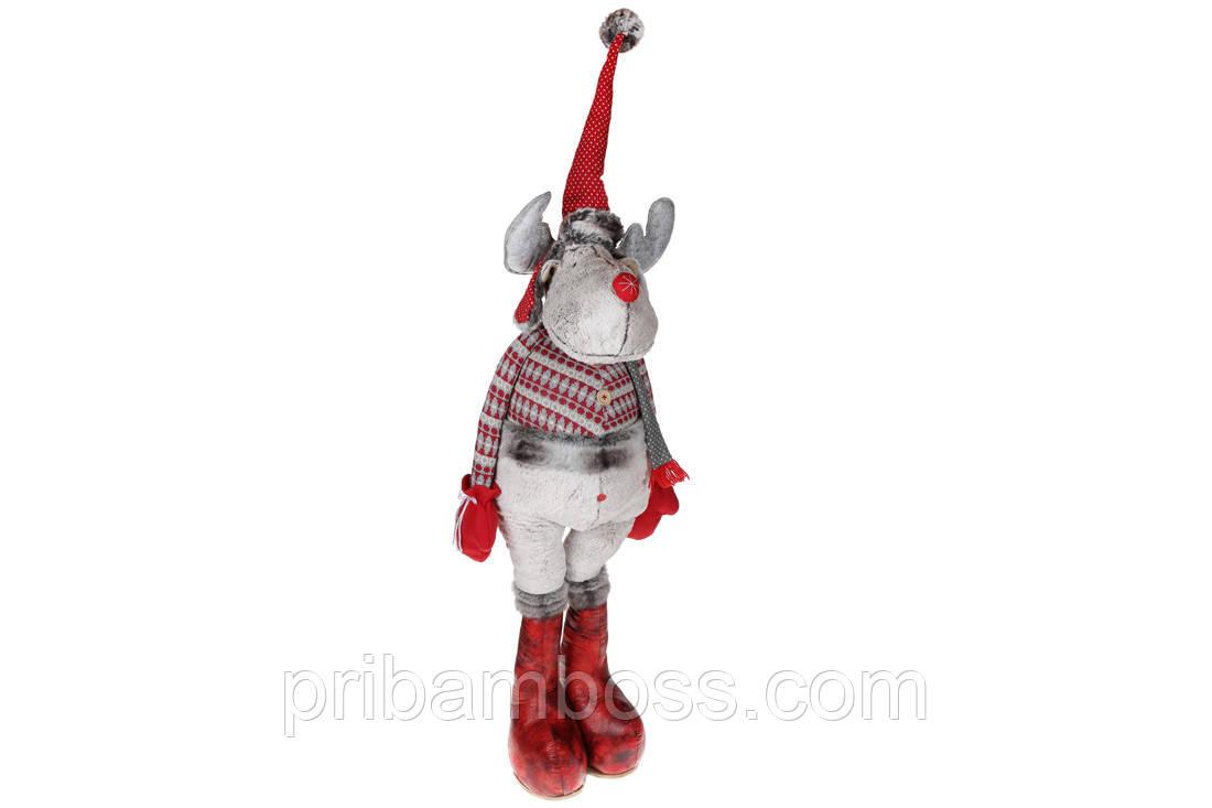 Мягкая новогодняя игрушка Олень, 160см, цвет - белый