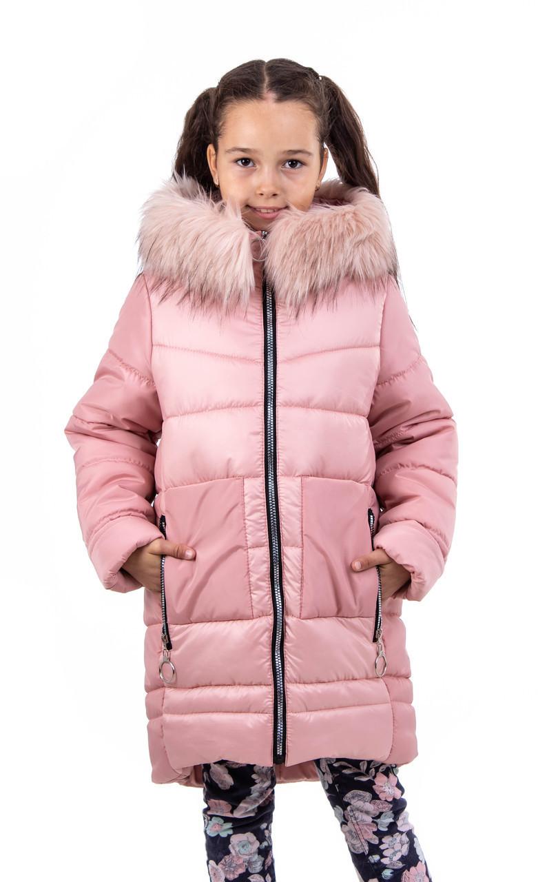 Куртки зимние для девочек   от производителя   32-40 розовый