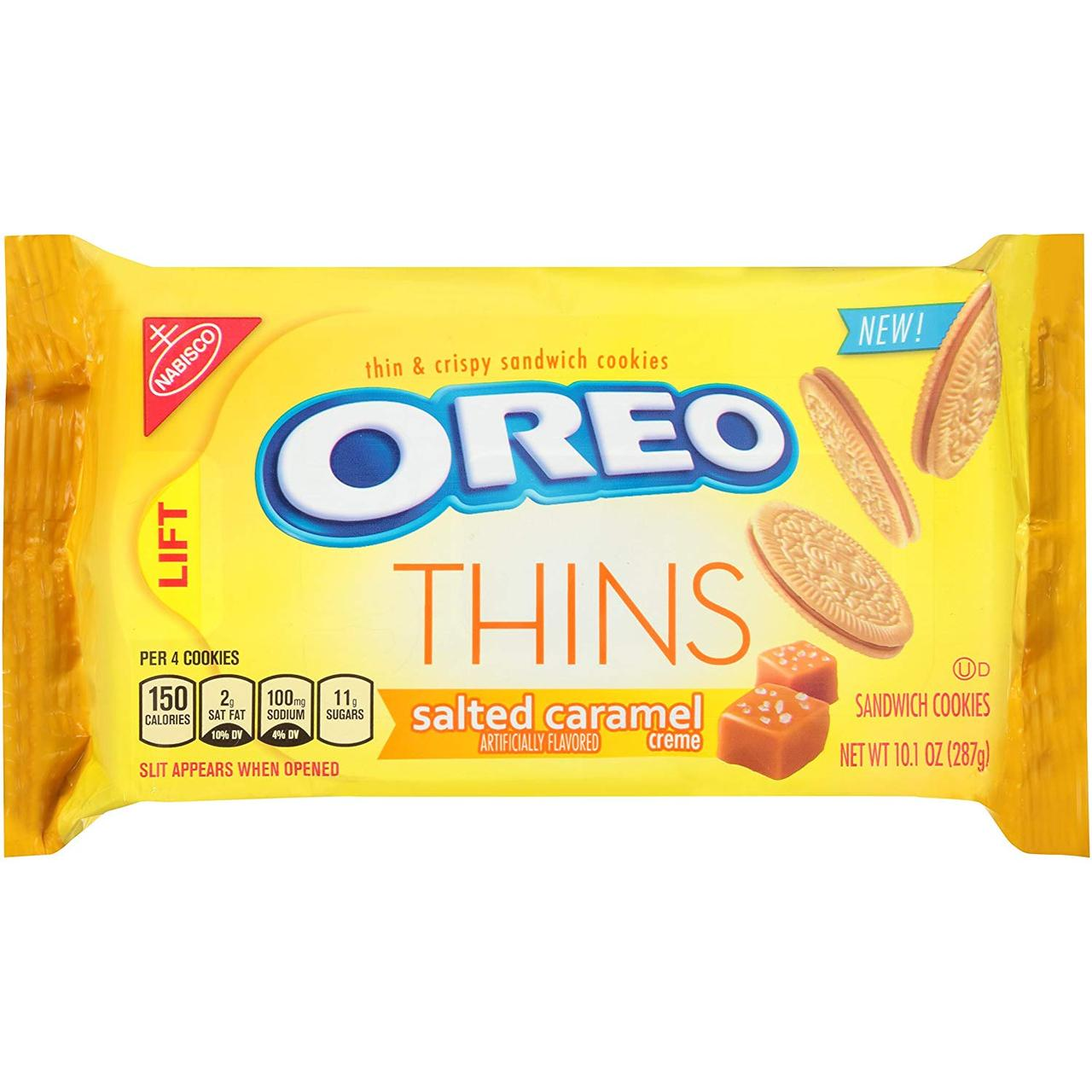 Печенье Oreo Thins Salted Caramel