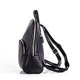 Женский черный рюкзак Polina, фото 2