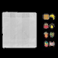 Бумажный Пакет Белый жиростойкий 100х100х40мм (ВхШхГ) 40г/м² 100шт (97)