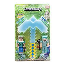 Кирка  алмазная  Майнкрафт с фигурками герой Стив