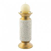 Подсвечник Doreline золотистый керамика 26 см, фото 1