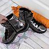 Серебряные ботинки на платформе. Женские ботинки зимние