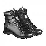 Серебряные ботинки на платформе. Женские ботинки зимние, фото 3
