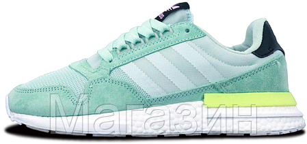 Женские кроссовки adidas ZX 500 Mint Адидас ZX 500 ментоловые, фото 2