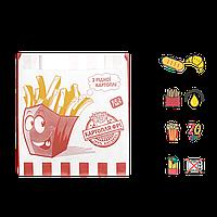 """Бумажный Пакет """"Рідна Картопля"""" жиростойкий  140х120х50мм (ВхШхГ) 70г/м² 100шт (1786), фото 1"""