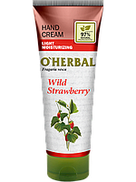 Легкий крем для рук зволожуючий Суниця 75 мл O Herbal