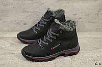 Детские кожаные зимние ботинки Columbia  (Реплика) (Код: C к  ) ►Размеры [35,36,37,38,39], фото 1