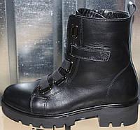 Ботинки женские зимние кожаные на низком каблуке от производителя модель РИА-6, фото 1