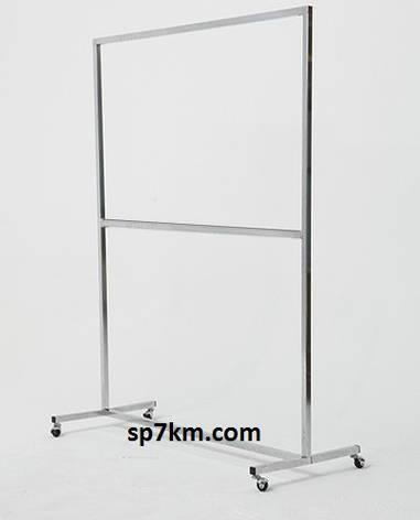 Стойка для одежды напольная хромированная 2.20м на 1м, фото 2