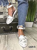 Эксклюзивные открытые туфли,балетки 39