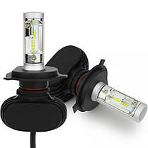 LED светодиодные лампы для авто S1 H4, комплект автомобильных светодиодных ламп (без радиатора), фото 2