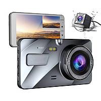 Автомобильный видеорегистратор DVR A10 Full HD с камерой заднего вида, сенсорный экран, регистратор в авто