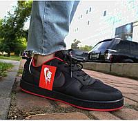 Кроссовки мужские кеды в стиле Nike NB полностью черные (размеры в описании)