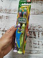 Детская зубная щетка мягкая GUM Crayola Toothbrushes 2 штуки в упаковке. 5 лет + Зубные нити