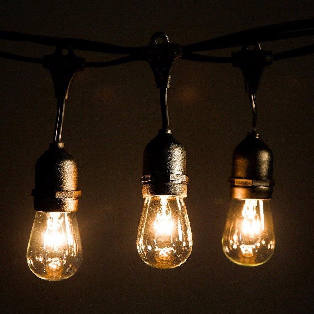Уличная светодиодная ретро-гирлянда лампочки Lumion Filament Bulb String S14 4м 20 ламп цвет белый теплый