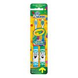 Детская зубная щетка мягкая GUM Crayola Toothbrushes 2 штуки в упаковке. 5 лет + Зубные нити, фото 2