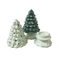 Подсвечник керамический новогодний Елка
