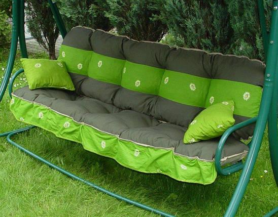 Подушки,матрасы для садовых качель 135 см.зеленый, фото 2