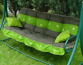 Подушки,матрасы для садовых качель 135 см.зеленый