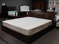Двуспальная кровать бук фабричная на ламелях Марита N Олимп с подъёмным механизмом