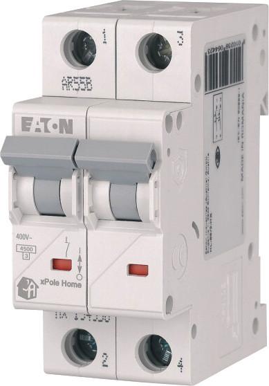 Автоматический выключатель 63А, тип C, 2 полюса, HL-C63/2 Eaton