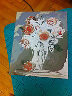 """Как рисовалась картина по номерам Babylon """"Коралловые розы"""" Код: VP326 7"""
