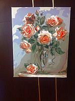 """Как рисовалась картина по номерам Babylon """"Коралловые розы"""" Код: VP326 10"""