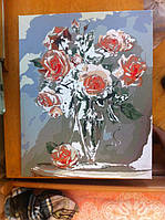 """Как рисовалась картина по номерам Babylon """"Коралловые розы"""" Код: VP326 8"""