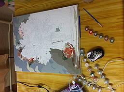 """Как рисовалась картина по номерам Babylon """"Коралловые розы"""" Код: VP326 4"""