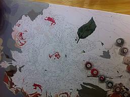 """Как рисовалась картина по номерам Babylon """"Коралловые розы"""" Код: VP326 5"""
