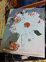 """Как рисовалась картина по номерам Babylon """"Коралловые розы"""" Код: VP326 6"""