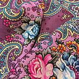 Мечты о счастье 1665-8, павлопосадский платок шерстяной с шелковой бахромой, фото 3