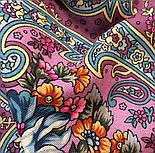 Мечты о счастье 1665-8, павлопосадский платок шерстяной с шелковой бахромой, фото 6
