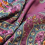 Мечты о счастье 1665-8, павлопосадский платок шерстяной с шелковой бахромой, фото 7