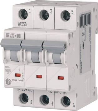 Автоматический выключатель 20А, тип C, 3 полюса, HL-C20/3 Eaton
