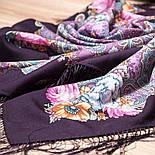 Мечты о счастье 1665-8, павлопосадский платок шерстяной с шелковой бахромой, фото 9