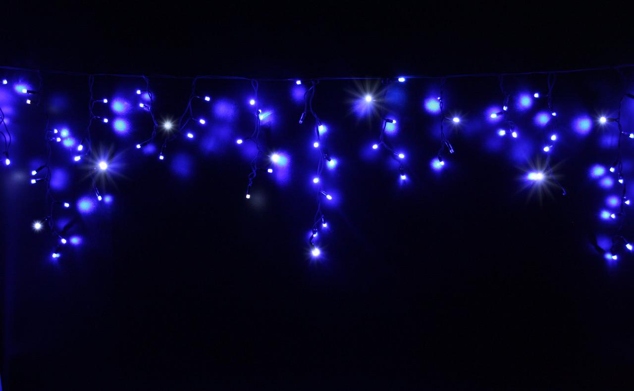 Уличная светодиодная гирлянда бахрома Lumion Icicle Light (20142-DE) 120 led синий с мерцанием без каб пит