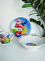 Детский набор посуды из керамики Самолеты