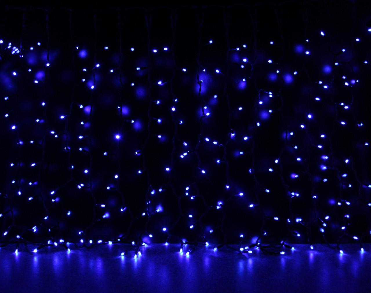 Уличная светодиодная гирлянда Штора Lumion Curtain (Куртейн) 288 led цвет синий без каб пит