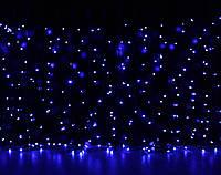 Уличная светодиодная гирлянда Штора Lumion Curtain (Куртейн) 288 led наружная цвет синий