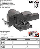тиски YATO Польша слесарные поворотные наковальня губки=200 мм m=29,5 кг YT-65049
