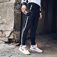 Спортивные штаны в стиле Off White Stripe чб, фото 1