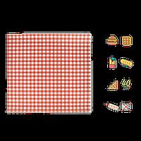 """Бумага упаковочная """"Гамбургер"""" 300х320мм (ВхШ) 40г/м² 1000шт (1773) Красная клетка, фото 1"""
