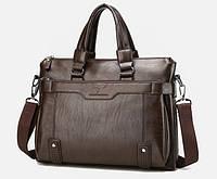 Стильная деловая сумка для документов KANGAROO (под формат А4). Сумка-портфель через плечо. Атташе.